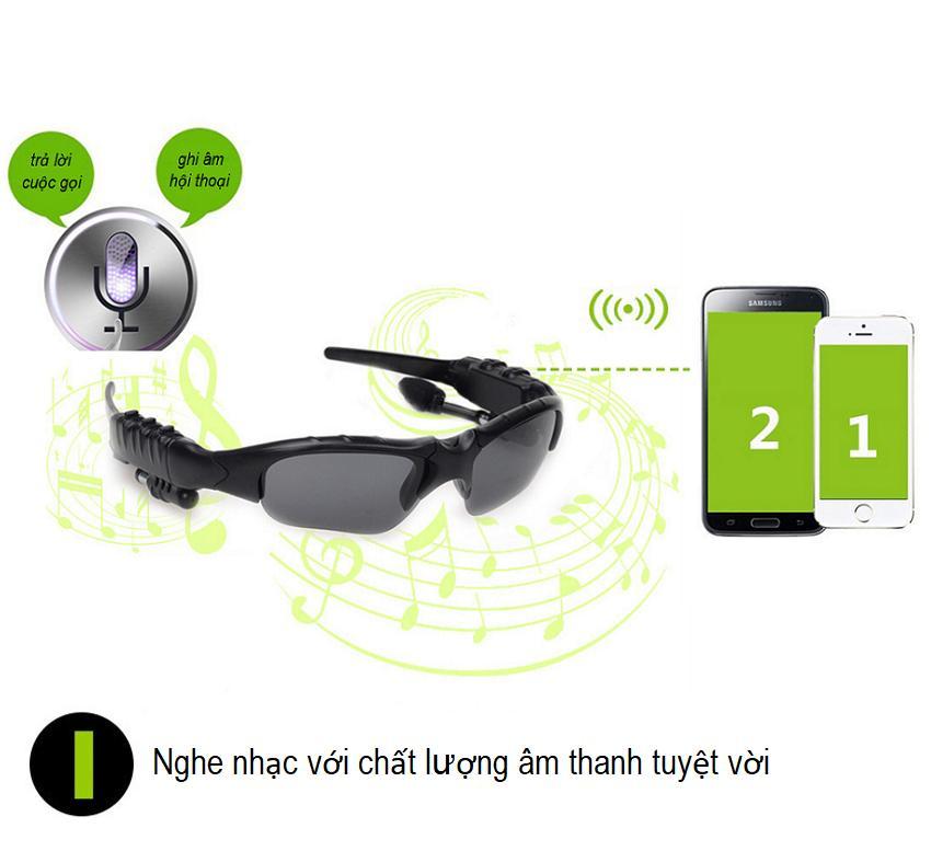 Giá Mắt Kính Bluetooth 4.0 Smart Glass Thông Minh Kết Nối Bluetooth (phù hợp cho Nam & Nữ) - Nghe Nhạc/ Đàm Thoại/ Trả Lời Cuộc Gọi