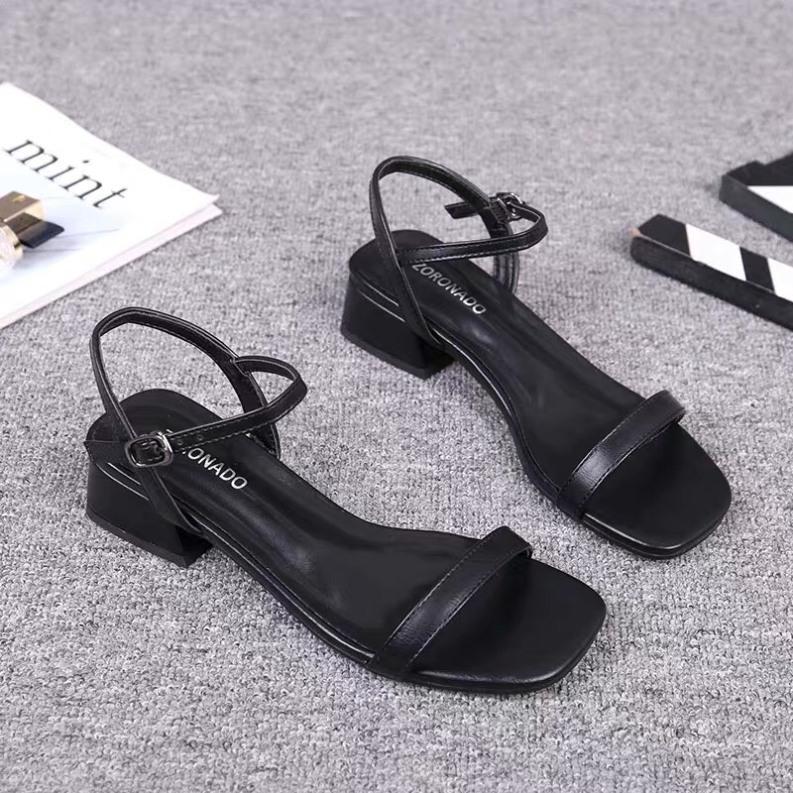 (mẫu mới) Sandal nữ/ Sandal cao gót nữ quai mảnh đế vuông 2cm mẫu hot 2020 giá rẻ