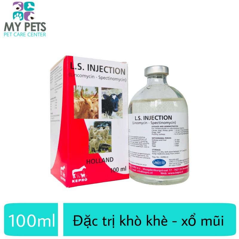 LINCO-SPECTIN (Hà lan) khò khè, sưng mắt phù đầu, viêm khớp viêm ruột, tiêu chảy - Linspec lọ 100ml