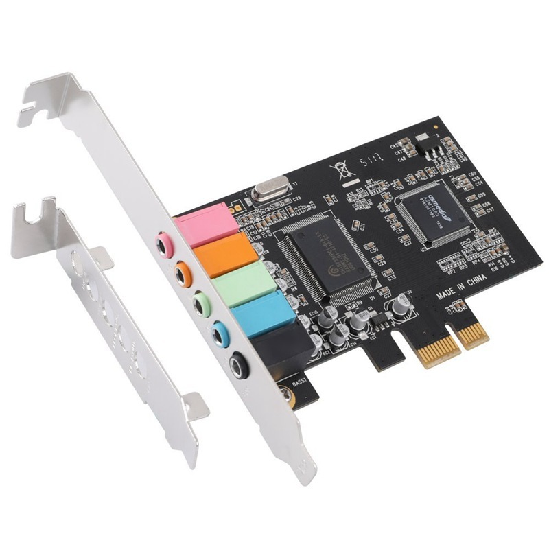 Bảng giá PCIe Sound Card 5.1, PCI Express Surround 3D Audio Card for PC with High Direct Sound Performance & Low Profile Bracket Phong Vũ