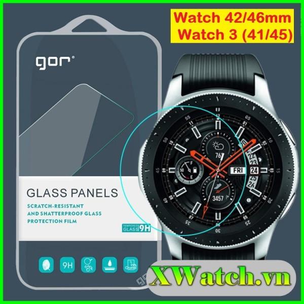 Bộ 3 kính cường lực GOR Samsung Galaxy Watch 3 (41mm - 45mm) 42mm 46mm