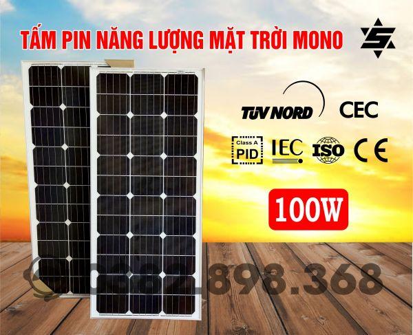 Tấm Pin Năng Lượng Mặt Trời 100W MONO
