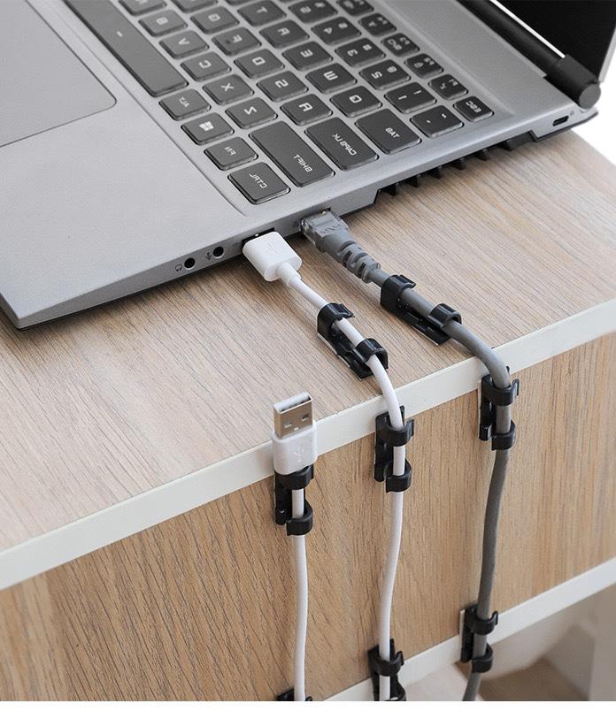Bộ 20 kẹp dán kẹp giữ dây điện dây cáp sạc điện thoại giá rẻ