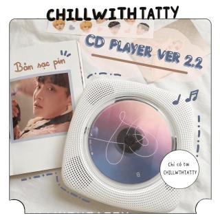Máy nghe nhạc CD Player chính hãng Kecag version 2.2 bản sạc pin mới nhất - máy đọc đĩa CD, DVD, nghe nhạc Bluetooth, USB, FM - Chillwthtatty thumbnail