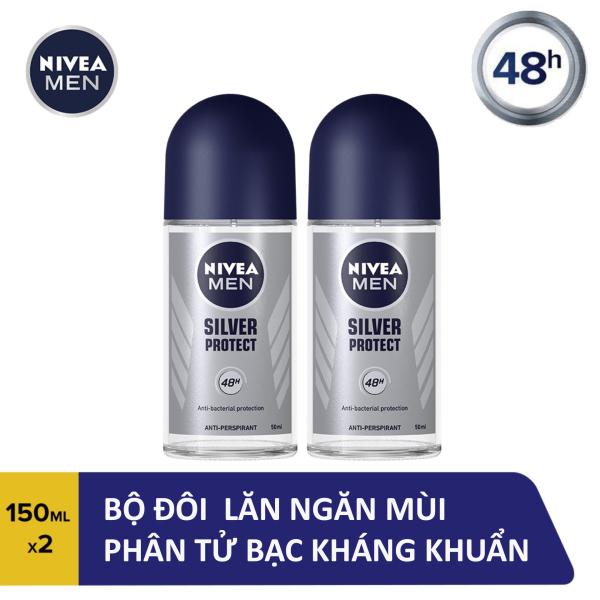 Combo 2 Lăn Ngăn Mùi Nam Phân Tử Bạc Nivea 50ml - 83778 giá rẻ
