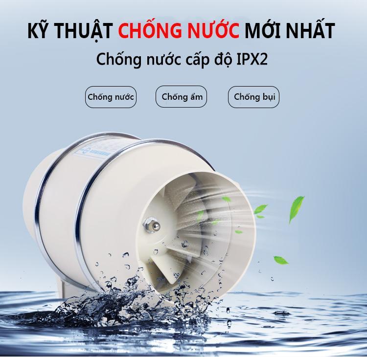 Quạt thông gió gia dụng hút gió thông gió hút ẩm làm khô phòng ngủ máy hút ẩm thông gió không khí TopOne2020