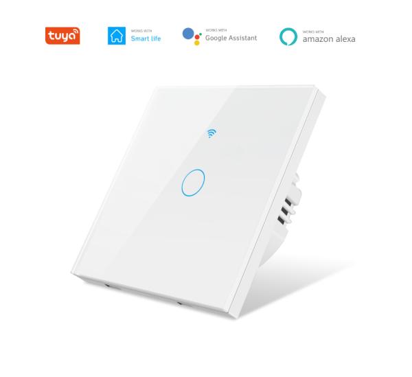 Công tắc thông minh Wifi mặt vuông 1, 2, 3 NÚT (App Tuya, SmartLife),Công tắc cảm  ứng mặt vuông -HÌNH THẬT GIAO NGAY