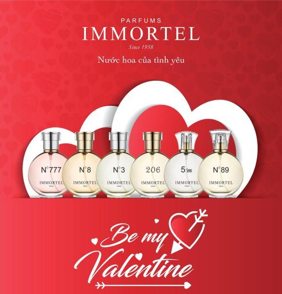 ComBo Valentine 14.02 .Mua 1 nhận 5 Nước : Khi mua Nước Hoa Immortel Paris 60ml Tặng 3 Nước hoa 4ml và 1 son Mỹ OraLabs