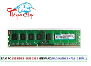 RAM PC 2GB DDR3 -BUS 1333 KINGMAX (BẢO HÀNH 3 NĂM - 1 ĐỔI 1) thumbnail