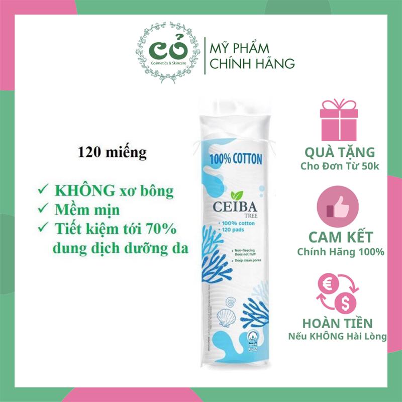 Bông tẩy trang Ceiba Tree (120 miếng) cam kết sản phẩm đúng mô tả chất lượng đảm bảo an toàn cho người sử dụng