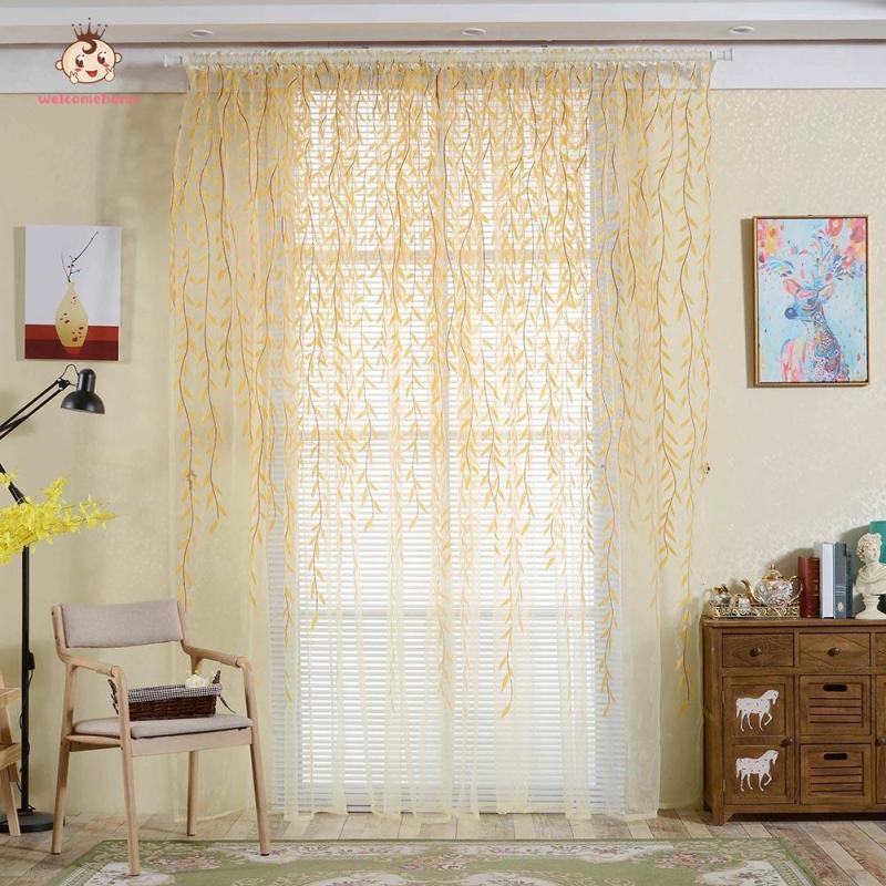 Phong Cách Đồng Quê Liễu Hoa Rèm Cửa Sổ Phòng Ngủ Trang Trí Phòng Khách