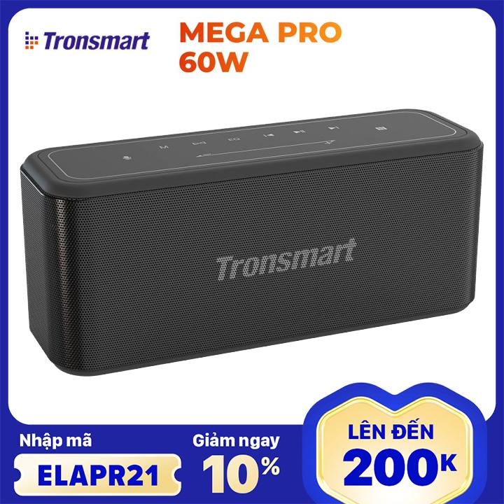 [Nhập ELAPR21 giảm 10% tối đa 200k đơn từ 99k]Loa Bluetooth Tronsmart Element Mega Pro Công suất 60W Loa di động Hỗ trợ TWS và NFC ghép đôi 2 loa Âm thanh nổi sống động kết hợp bass mạnh và sâu Có Mic đàm thoại Thời gian nghe nhạc lên tới 10h - BẢO HÀNH