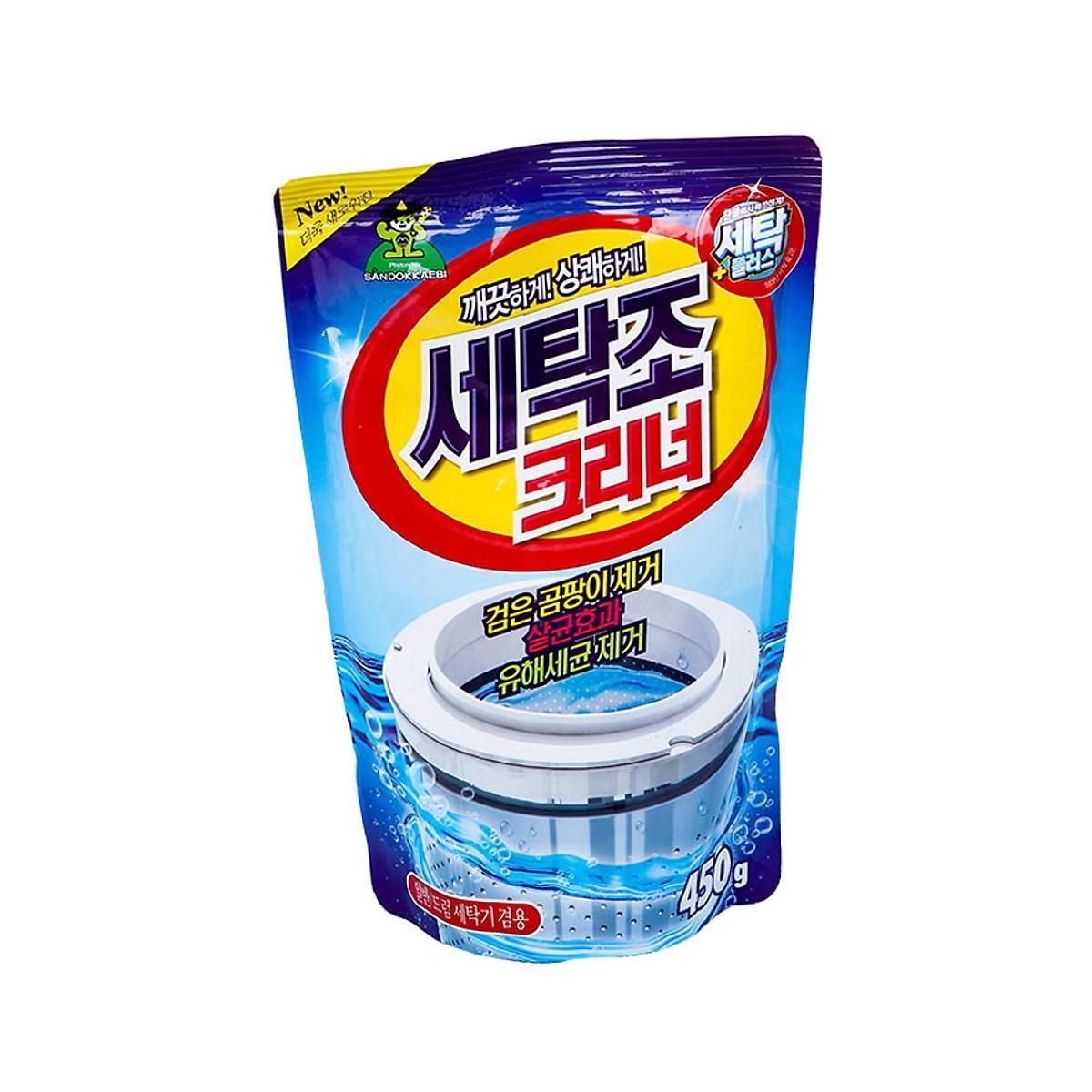 Bột tẩy vệ sinh lồng máy giặt Panda 450 Gram - Nhập Khẩu Hàn Quốc