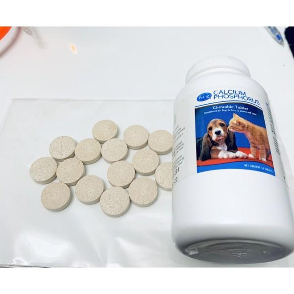 (Lẻ) Canxi Mỹ Chắc Xương Chó Mèo Calcium Phosphorus - Bênh Thiếu Canxi Trên Chó Mèo - gói 20vien