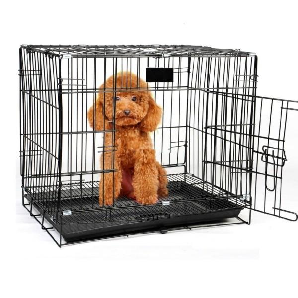 Chuồng nuôi thú cưng cho mèo thỏ gấp gọn, sơn tĩnh điện dành cho thú cưng dưới 7kg
