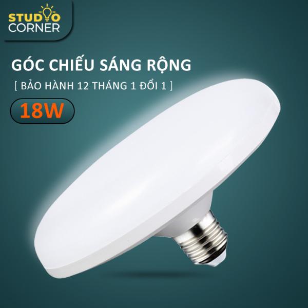 Bóng đèn led tròn hình đĩa bay tiết kiệm điện công suất cao 18W-24W-36W-50W, đuôi vít xoắn E27, tuổi thọ cao, ánh sáng trắng không gây chói mắt, không nhấp nháy, tiện dụng cho nhiều không gian nhà ở, văn phòng-DDB