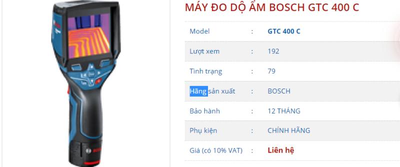 GTC 400C Máy dò nhiệt - Camera cảm ứng nhiệt