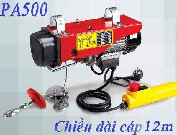 máy tời điện PA500 tải 500kg cáp 12 mét