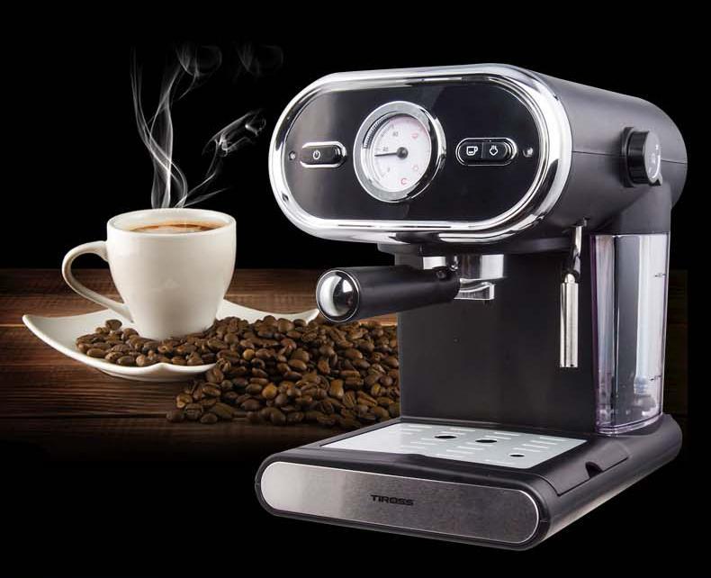 Máy pha cà phê Espresso 15bar Tiross TS6211 (Đen)