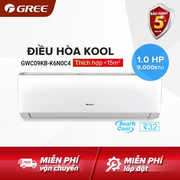Bảng giá Điều hòa GREE- công nghệ Real Cool - 1 HP (9000 BTU) - KOOL GWC09KB-K6N0C4 (Trắng) - Hàng phân phối chính hãng