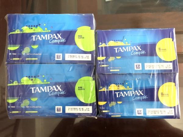 Băng vệ sinh Tampon Tampax Compak 26 ống sạch sẽ thoải mái vận động những ngày đèn đỏ giá rẻ