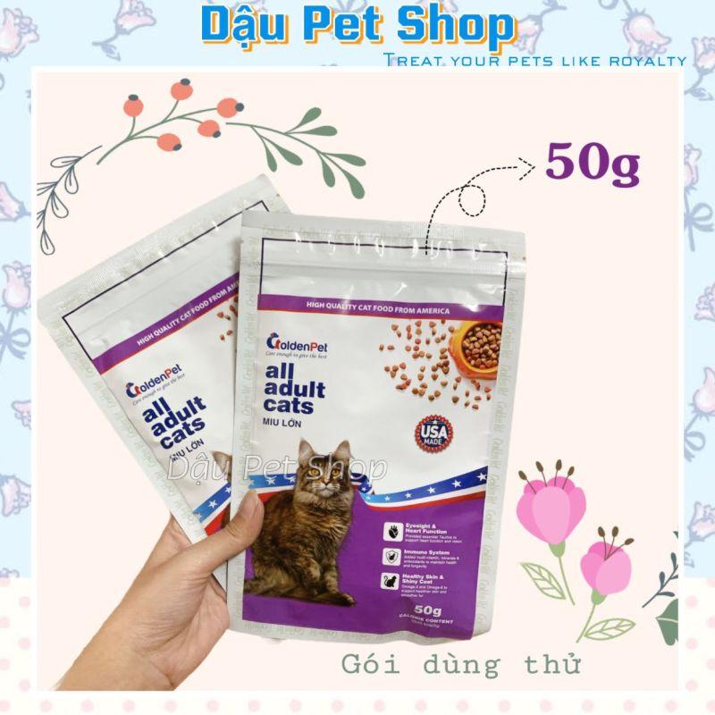 [Gói Dùng Thử] Golden Pet Miu Lớn 50G - Thức Ăn Hạt Cho Mèo