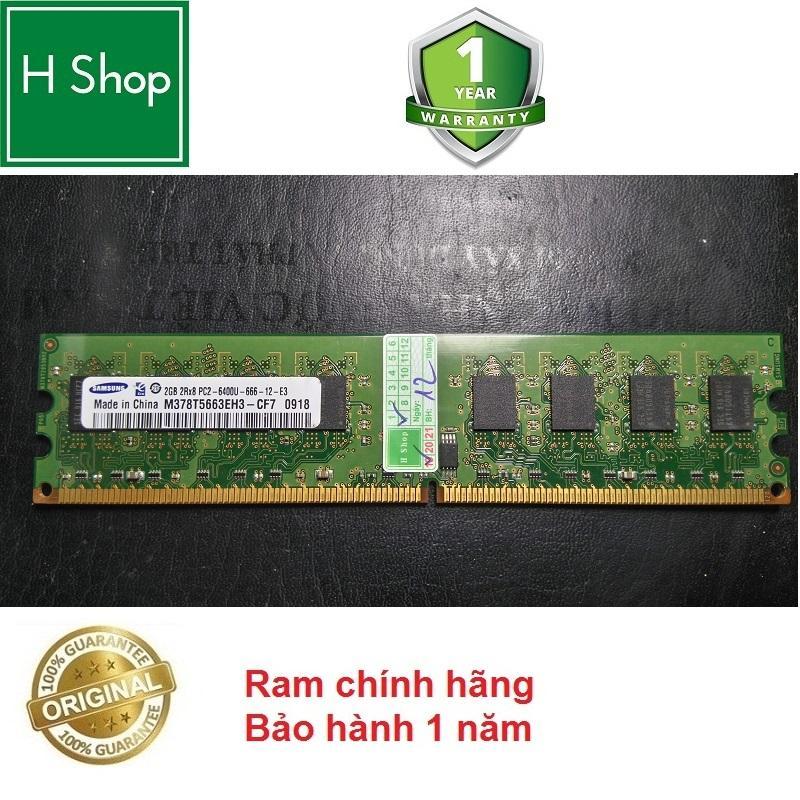 Giá Ram máy bàn DDR2 2Gb bus 800 - 6400s, bảo hành 12 tháng