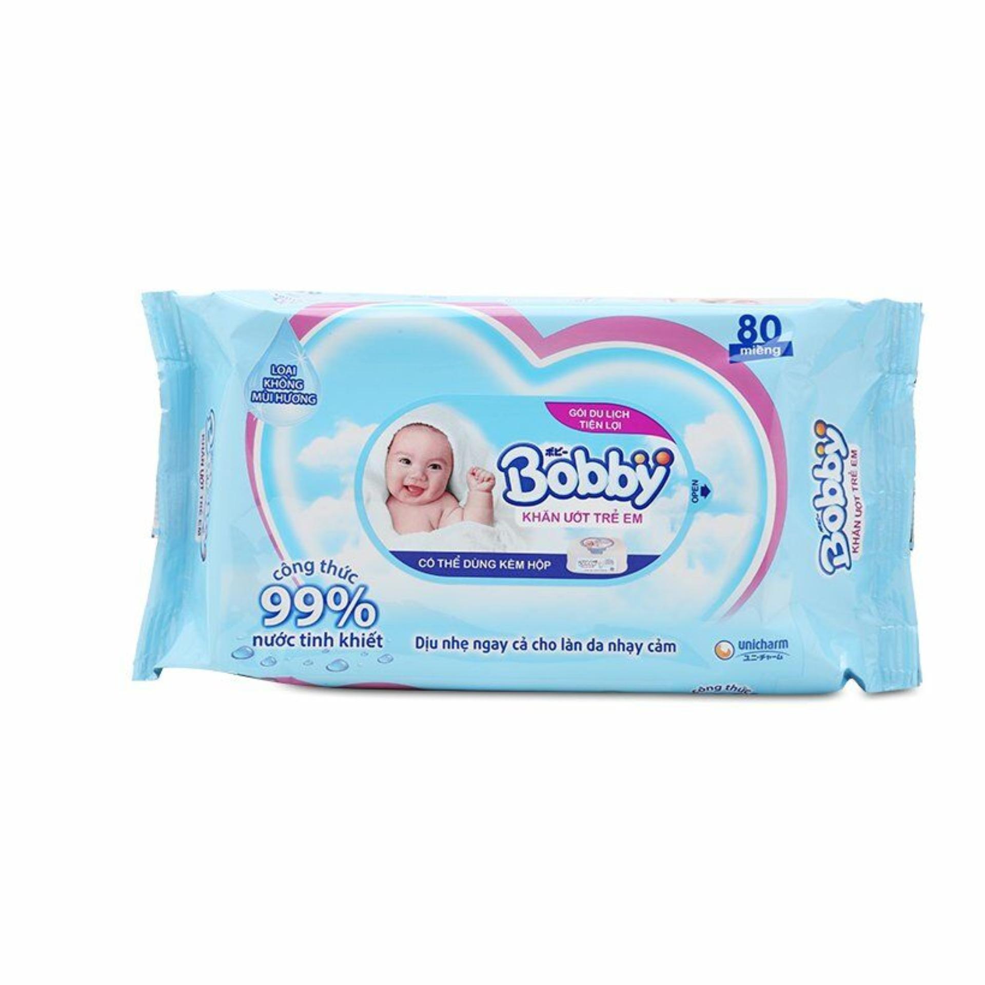 [Quà Tặng Không Bán] Khăn ướt Trẻ Em Bobby Care Bổ Sung Gói 80 Miếng (hàng Tặng Của S56) Có Giá Siêu Tốt