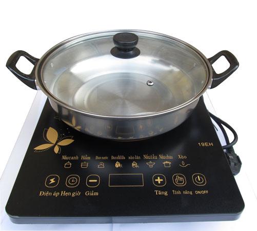 Bếp từ cơ Media MD-BT1820 - Bếp từ ăn lẩu + Tặng kèm nồi