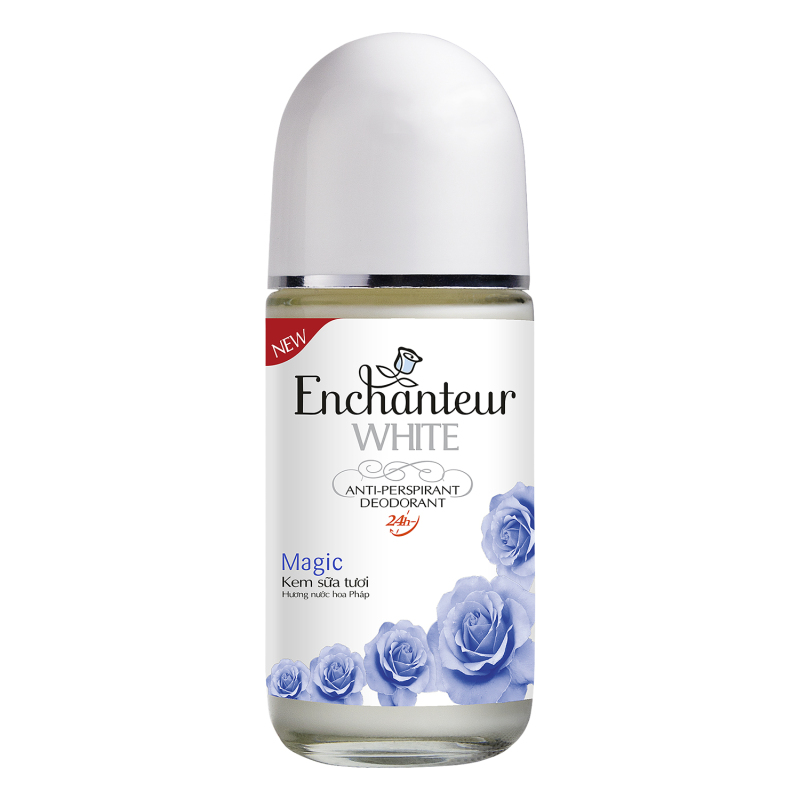 [HCM]Lăn khử mùi kem sữa tươi Enchanteur White Magic 50ml cao cấp