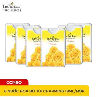 [Voucher 30K] Combo 6 Nước hoa bỏ túi Enchanteur Charming 18ml hộp thumbnail