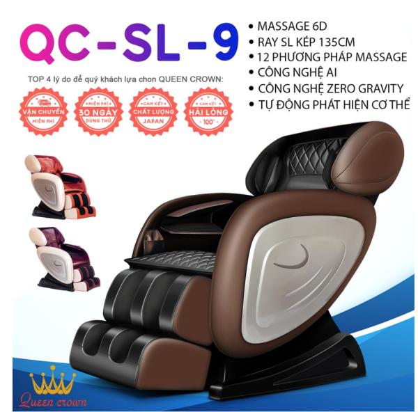 Ghế Massage QUEEN CROWN 6D QC-SL-9 - Món Quà Dành Cho Sức Khoẻ
