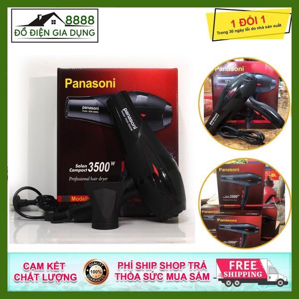 Máy sấy tóc, tạo kiểu tóc Panasoni 2 chiều 3500w, có ánh sáng xanh kháng khuẩn thích hợp cho mọi loại tóc, tiện lợi, dễ sử dụng