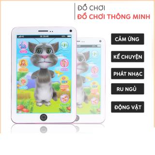 Đồ chơi Ipad mèo tom phát nhạc biết nói, hát, kể chuyện, đồ chơi giáo dục phát triển kỹ năng chất liệu an toàn cho bé thumbnail
