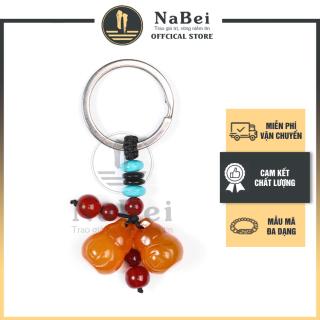 Móc Chìa Khóa Phong Thủy Đá Mã Não Tự Nhiên Mang Lại Tài Lộc, May Mắn NB123- Phong Thuỷ NaBei Store thumbnail