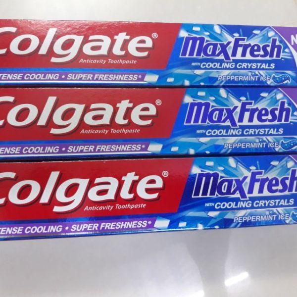 LỐC 3 TUÝP KEM ĐÁNH RĂNG COLGATE MAX FRESH(hàng công ty 100%) giá rẻ
