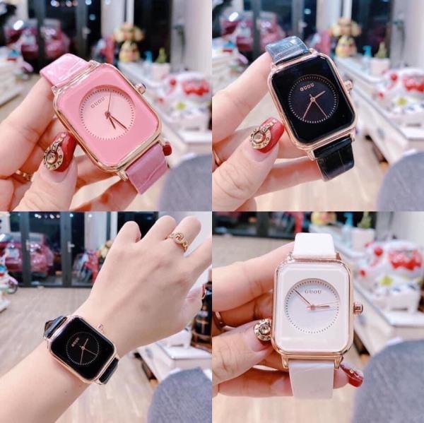 Nơi bán Đồng hồ nữ dây da GUOU A45 TREND 2020 đồng hồ kim thời trang cho phái đẹp
