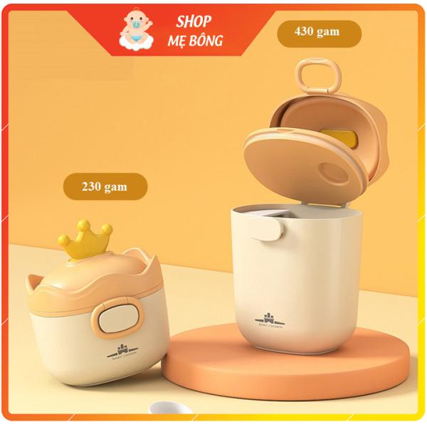 Hộp đựng sữa bột, đồ khô hình vương miện cao cấp hãng Baby Crown (có thể tiệt trùng)