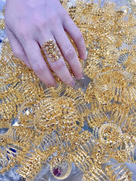 Nhẫn lò xo mạ vàng 18k EK026