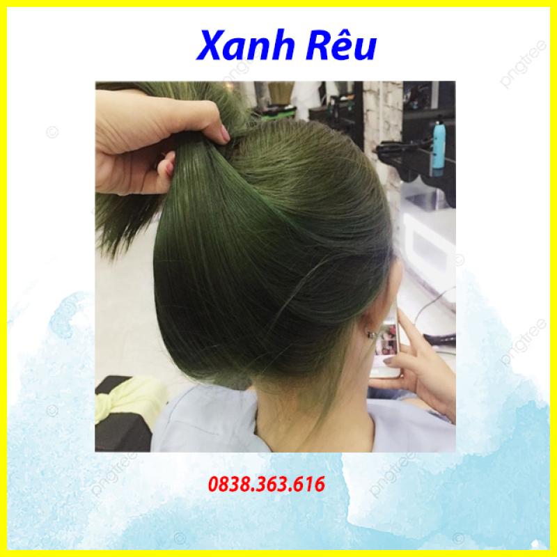 💥Tự nhuộm tóc màu Xanh rêu lá khói tại nhà, hàng nội địa Việt Nam, không gây hư tổn cho tóc (Trọn bộ tặng gang tay, trợ nhuộm) nhập khẩu
