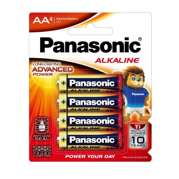 Pin AA Panasonic Ankaline siêu bền LR6T/4B - Hàng chính hãng, pin không chứa chì, giữ năng lượng lên đến 10 năm, kích thước AA (tiểu), xuất xứ Thái Lan
