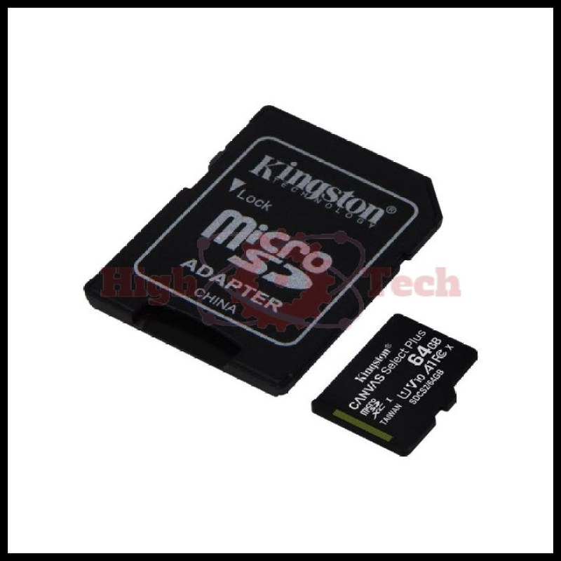 Thẻ nhớ micro SDXC Kingston 64GB Canvas Select Plus upto 100MB-s + Adapter