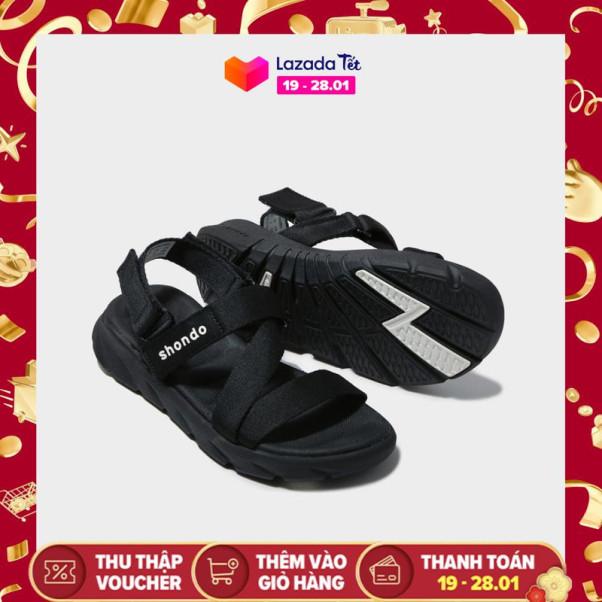 Giày nam sandals Shondo F6 Sport F6S301 (Đen) giá rẻ