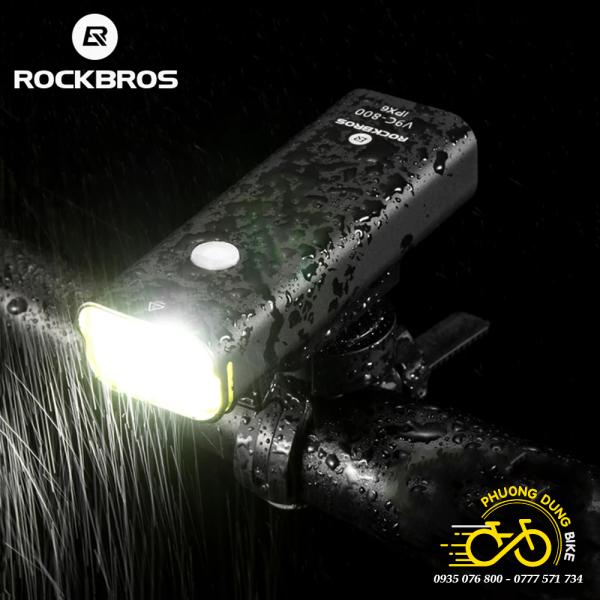 Đèn pin siêu sáng xe đạp ROCKBROS V9C800 800LM