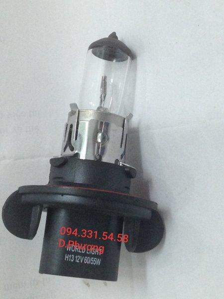 Bóng H13 12V 55W. Bóng đèn ô tô World Light. Chuyên các loại bóng đèn halogen giá sỉ