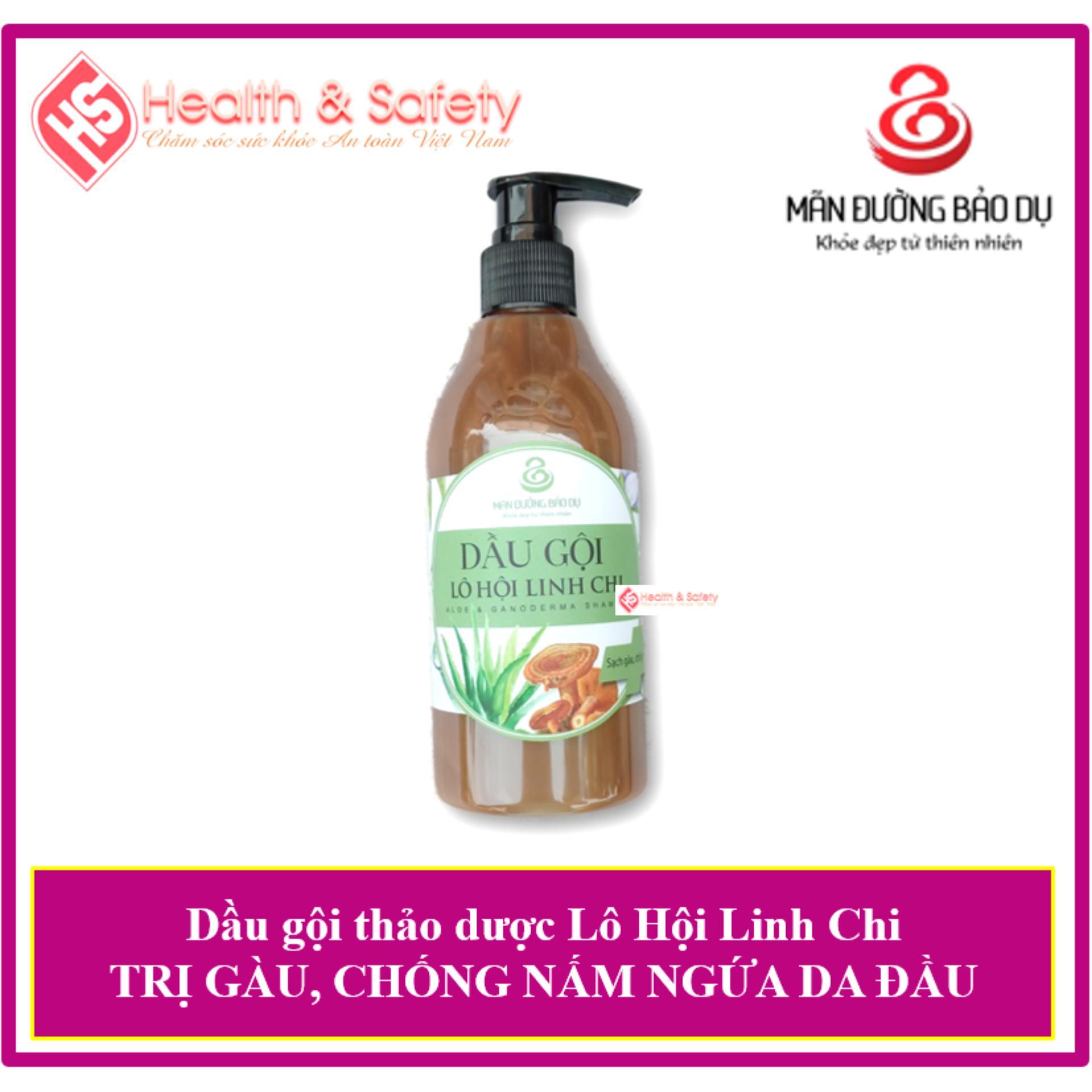 Dầu gội thảo dược Lô Hội Linh Chi ngăn ngừa rụng tóc, trị gàu, dưỡng tóc, làm đen tóc, hồi phục tóc hư tổn giá rẻ