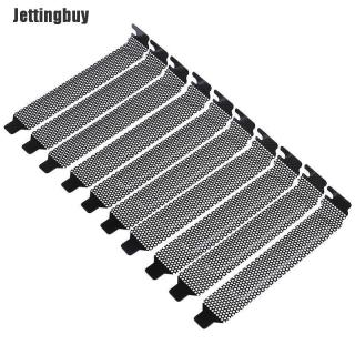 Jettingbuy 10 Cái Nắp Khe Cắm PCI Màu Đen Mới Bộ Lọc Bụi Tấm Tẩy Trắng Thép Cứng thumbnail
