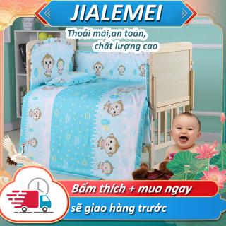 giường em bé gỗ mộc đa chức năng nhiều tầng nôi em bé không phun sơn có thể di động thumbnail