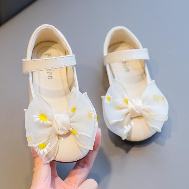 Giày hài tập đi cho bé gái đế mềm êm chân có kèn đính nơ dễ thương cho bé 0-2 tuổi - NG1 giá rẻ