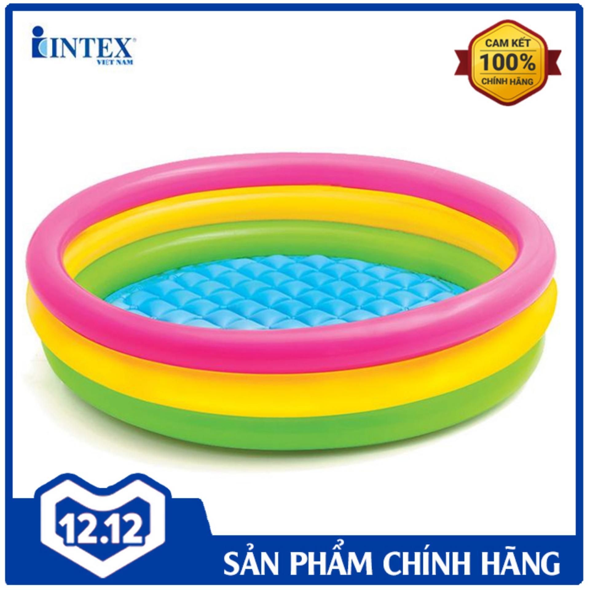 Mã Ưu Đãi Khi Mua Bể Bơi Phao 3 Tầng 1m47 INTEX 57422 - Hồ Bơi Cho Bé Mini, Bể Bơi Phao Trẻ Em